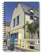 New England Style Building At Fisherman's Village Marina Del Rey Los Angeles Spiral Notebook