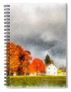 New England Village Spiral Notebook