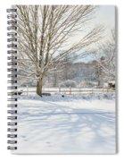 New England Winter Spiral Notebook