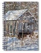 New England Winter Woods Spiral Notebook
