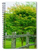 New England Wooden Fence Spiral Notebook