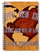 New Era On Earth A New Begining Spiral Notebook