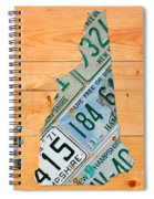New Hampshire License Plate Map Live Free Or Die Old Man Of The Mountain Spiral Notebook