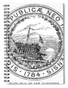 New Hampshire State Seal Spiral Notebook