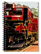 New Hope Ivyland Railroad With Cars Spiral Notebook