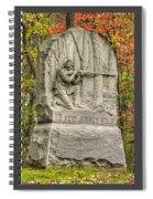 New Jersey At Gettysburg - 13th Nj Volunteer Infantry Near Culps Hill Autumn Spiral Notebook
