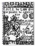 New Jersey Banknote, 1763 Spiral Notebook