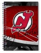 New Jersey Devils Christmas Spiral Notebook