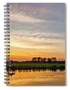 New Jersey Sunset Panoramic Spiral Notebook