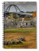 New Lake Champlain Bridge Over Fort Crown Point Panorama Spiral Notebook