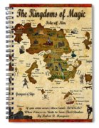 New Map Of The Kingdoms Of Magic Spiral Notebook