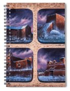 New Mexico Churches In Snow Spiral Notebook