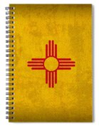 New Mexico State Flag Art On Worn Canvas Spiral Notebook
