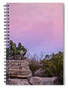 New Mexico Sunset With Cacti Spiral Notebook