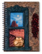 New Mexico Window Gold Spiral Notebook