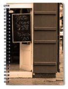 New Orleans - Bourbon Street Menu 3 Spiral Notebook