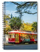 New Orleans - Canal St Streetcar 2 Spiral Notebook