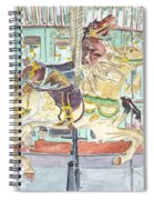 New Orleans Carousel Spiral Notebook