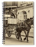New Orleans - Carriage Ride Sepia Spiral Notebook