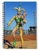 New Orleans Clown French Quarters Spiral Notebook