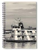 New Orleans Ferry Bw Spiral Notebook
