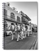 New Orleans Funeral Monochrome Spiral Notebook