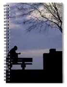 New Orleans Riverwalk Silhouette Spiral Notebook