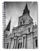 New Orleans St Louis Cathedral Bw Spiral Notebook