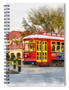 New Orleans Streetcar Paint Spiral Notebook
