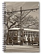 New Orleans Streetcar Sepia Spiral Notebook