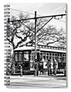 New Orleans Streetcar Silhouette Spiral Notebook