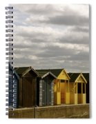 Colourful Wooden English Seaside Beach Huts Spiral Notebook