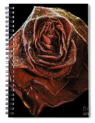 Perfect Gothic Red Rose Spiral Notebook
