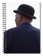 New Photographic Art Print For Sale   Iconic London Man In Bowler Hat Spiral Notebook