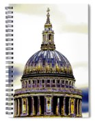New Photographic Art Print For Sale   Iconic London St Paul's Cathedral Spiral Notebook