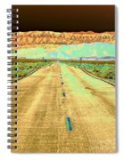 New Photographic Art Print For Sale Long Road To The Valley Of Fire Spiral Notebook