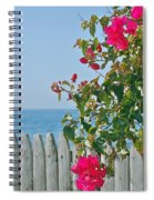 New Photographic Art Print For Sale On The Fence Montecito Bougainvillea Overlooking The Pacific Spiral Notebook