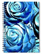 Pop Art Blue Roses Spiral Notebook