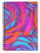 Pop Art Pink Neon Roses Spiral Notebook