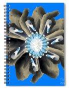 New Photographic Art Print For Sale Pop Art Swan Flower On Blue Spiral Notebook