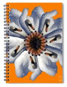 New Photographic Art Print For Sale Pop Art Swan Flower On Orange Spiral Notebook