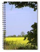 New Photographic Art Print For Sale Yellow English Fields 3 Spiral Notebook