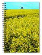 New Photographic Art Print For Sale Yellow English Fields 4 Spiral Notebook