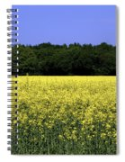 New Photographic Art Print For Sale Yellow English Fields Spiral Notebook