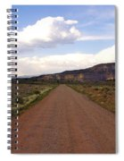 Red Road From The Benedictine Abbey Of Christ In The Desert New Mexico  Spiral Notebook