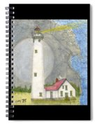 New Presque Isle Lighthouse Mi Nautical Chart Map Art Spiral Notebook