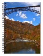 New River Gorge Fiery Fall Colors Spiral Notebook
