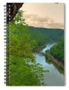 New River Railroad Bridge At Hawk's Nest  Spiral Notebook