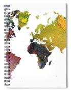 New World Map Spiral Notebook