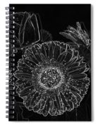 New Years Eve Flower Spiral Notebook